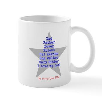 Father's Day Blue Star Mug