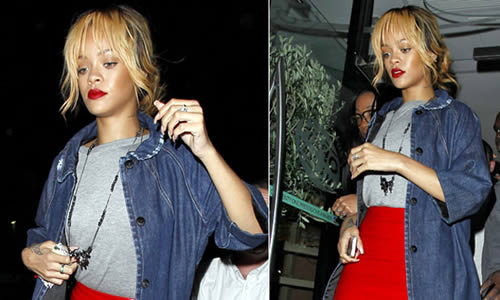 Rihannas a Red Devil during WAG night out in Manchester