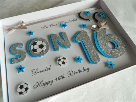 Personalised Handmade Birthday Card Son 16,18,30,40 any