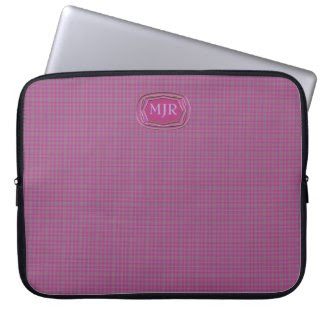 Light purples Scottish-style Tartan Plaid Monogram