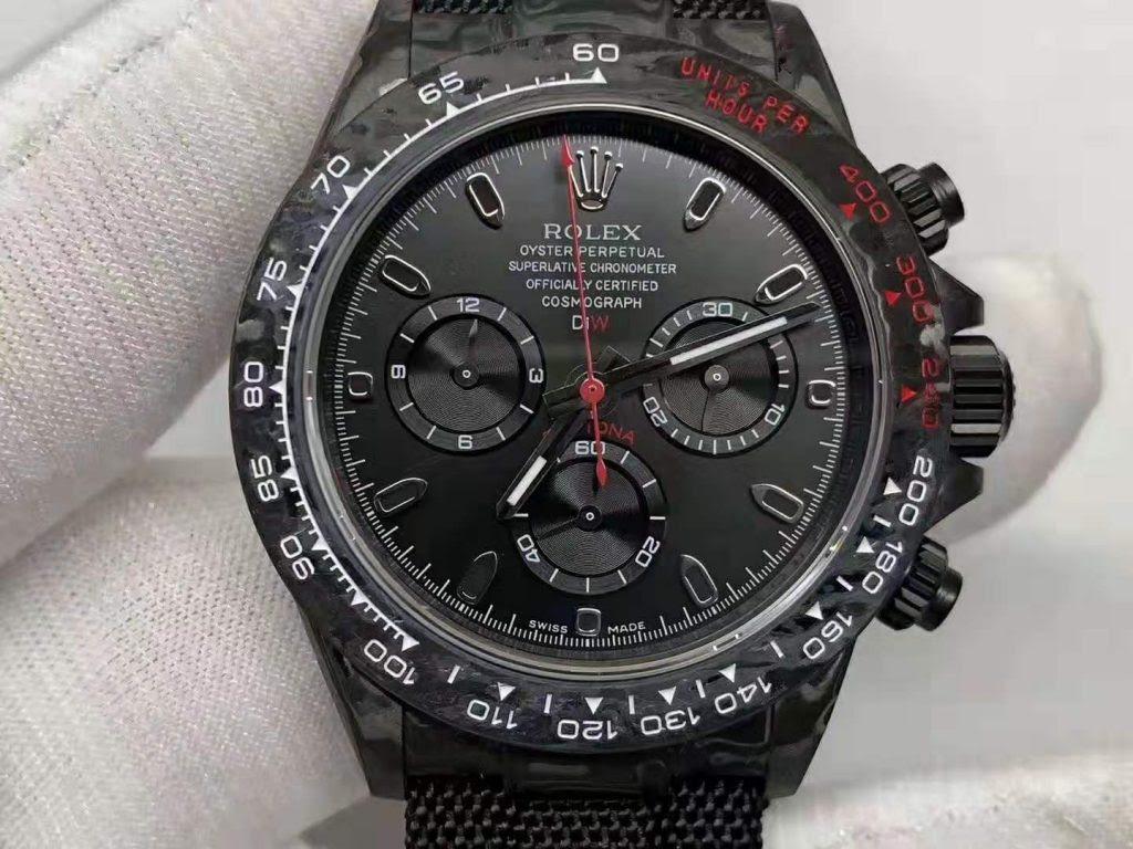Replica Rolex Daytona Carbon Black Dial