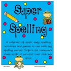 Super Spelling Activities for any Spelling Words