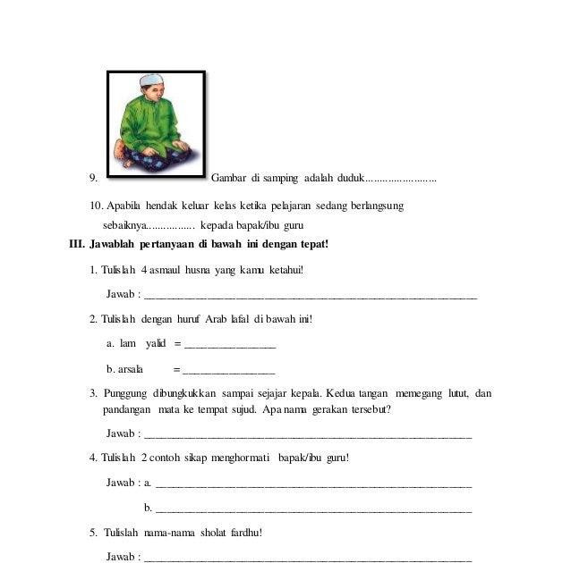 Contoh Soal Hots Pai Sd Kelas 4 Guru Soal