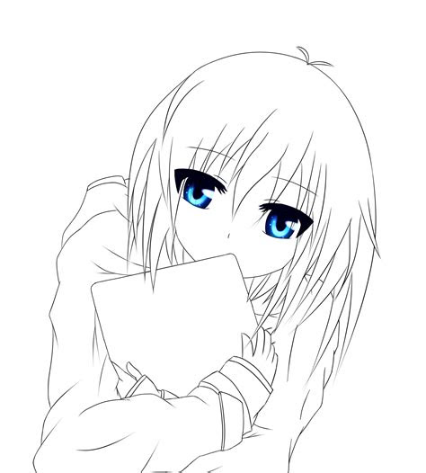shy anime girl lineart  blacklegendzz  deviantart
