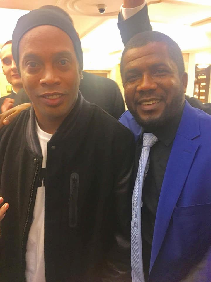 Gombe Commissioner Poses With Ronaldo, Ronaldinho & Other Football Legends In Russia