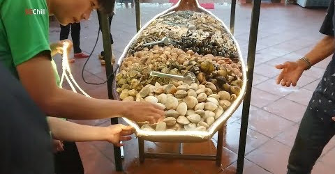 Cuối tuần đi Nhà Bè ăn buffet một ghe hải sản tươi ngon bổ rẻ | quán Ông Bình Dân