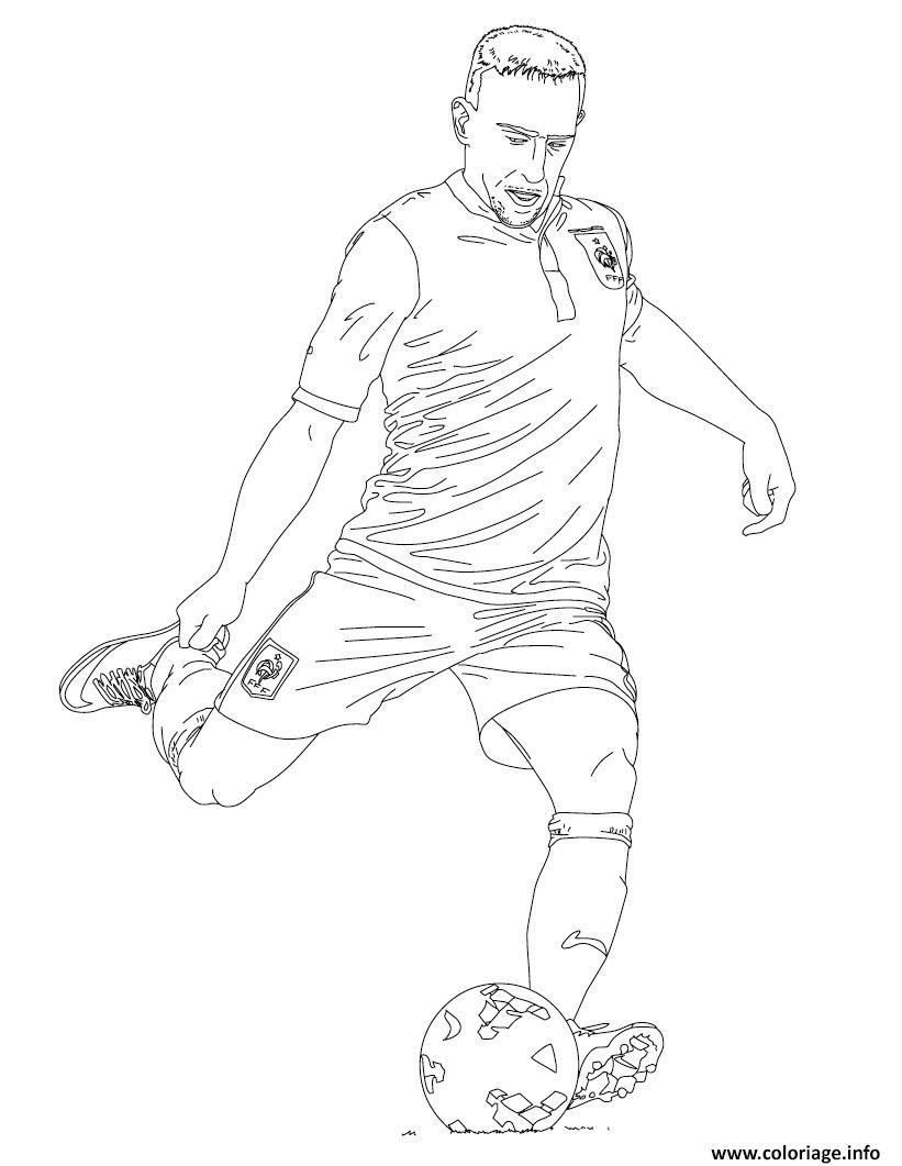 Coloriage Franck Ribery Joueur De Foot France Jecoloriecom
