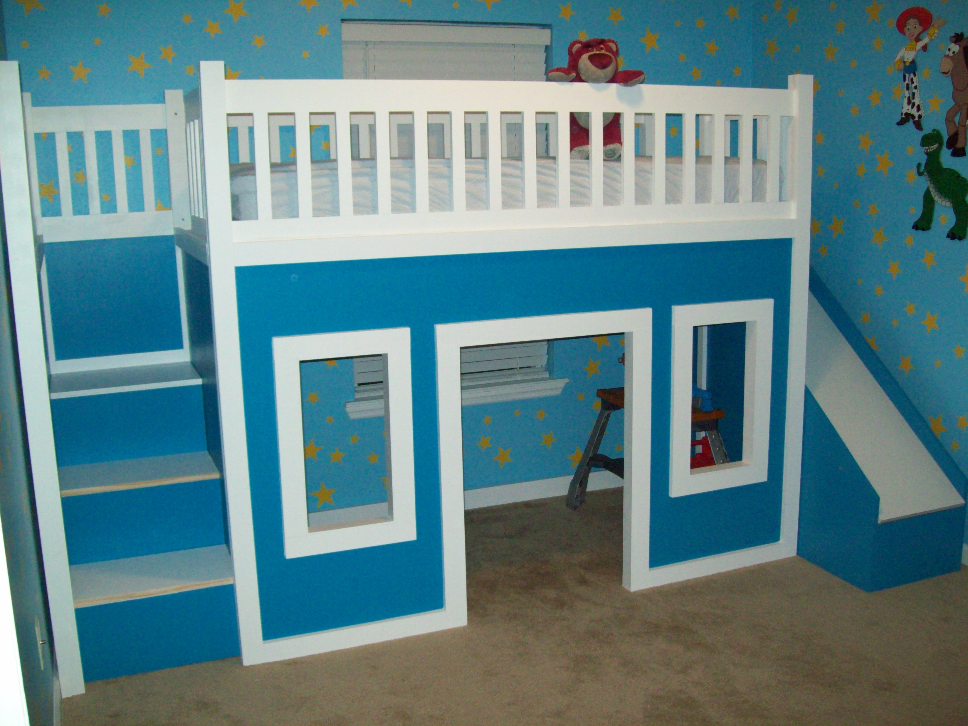 Playhouse Loft Bed With Stairs And Slide | Do It Yourself Home ...