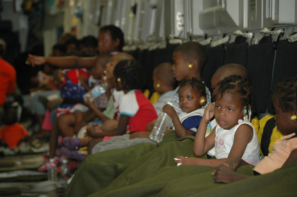 Orphans Leave Haiti Children From Maison Des Enfants De