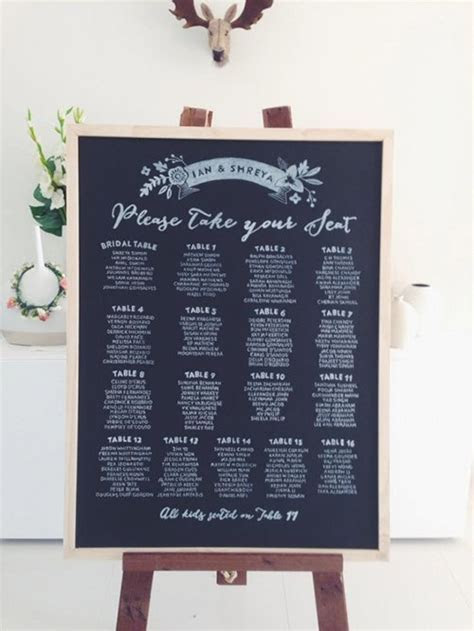 How to Create Your Wedding Reception Seating Chart   Brides