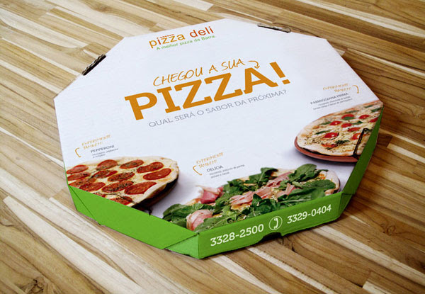 PIZZA DELI Packaging Design Inspiration 25+ Sour & Spicy Pizza Packaging Design Ideas
