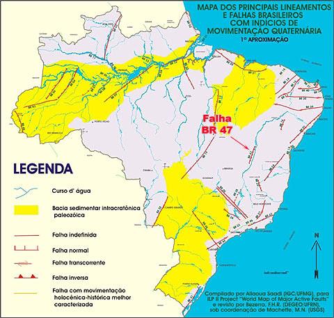 Falhas geológicas no Brasil