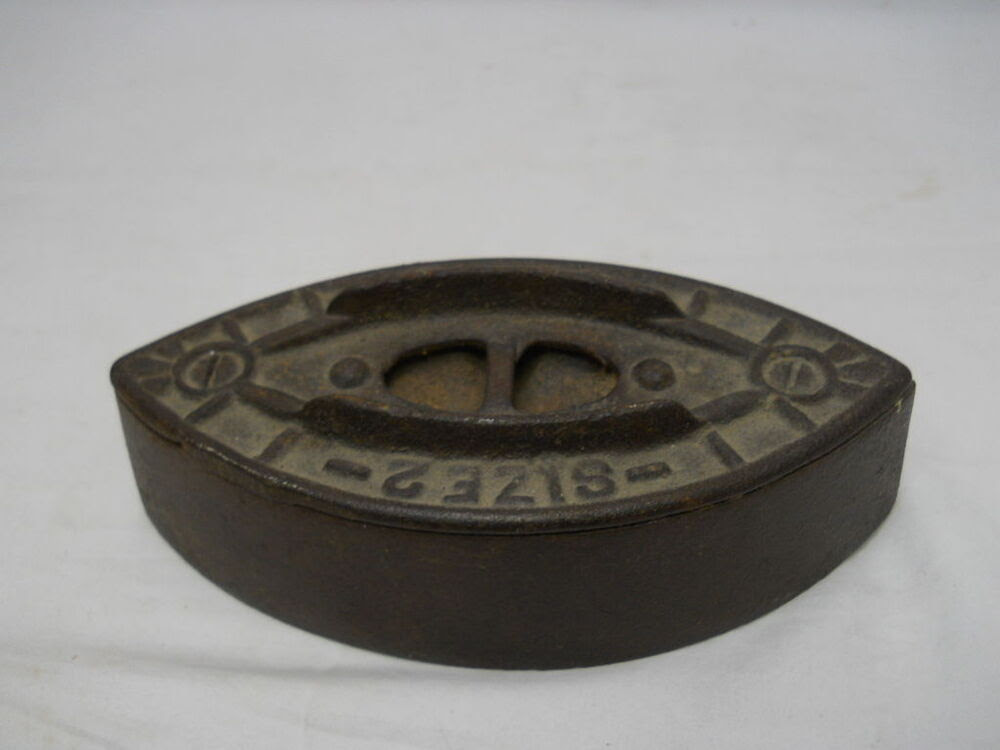 Antique Dover Cast Iron Toy Sad Iron with Nickle Plated ...