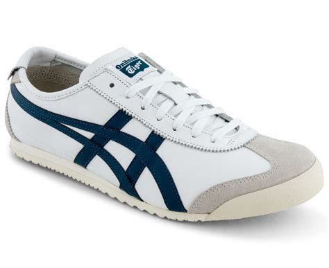 onitsuka tiger mens mexico  shoe whiteink blue scoopon shopping