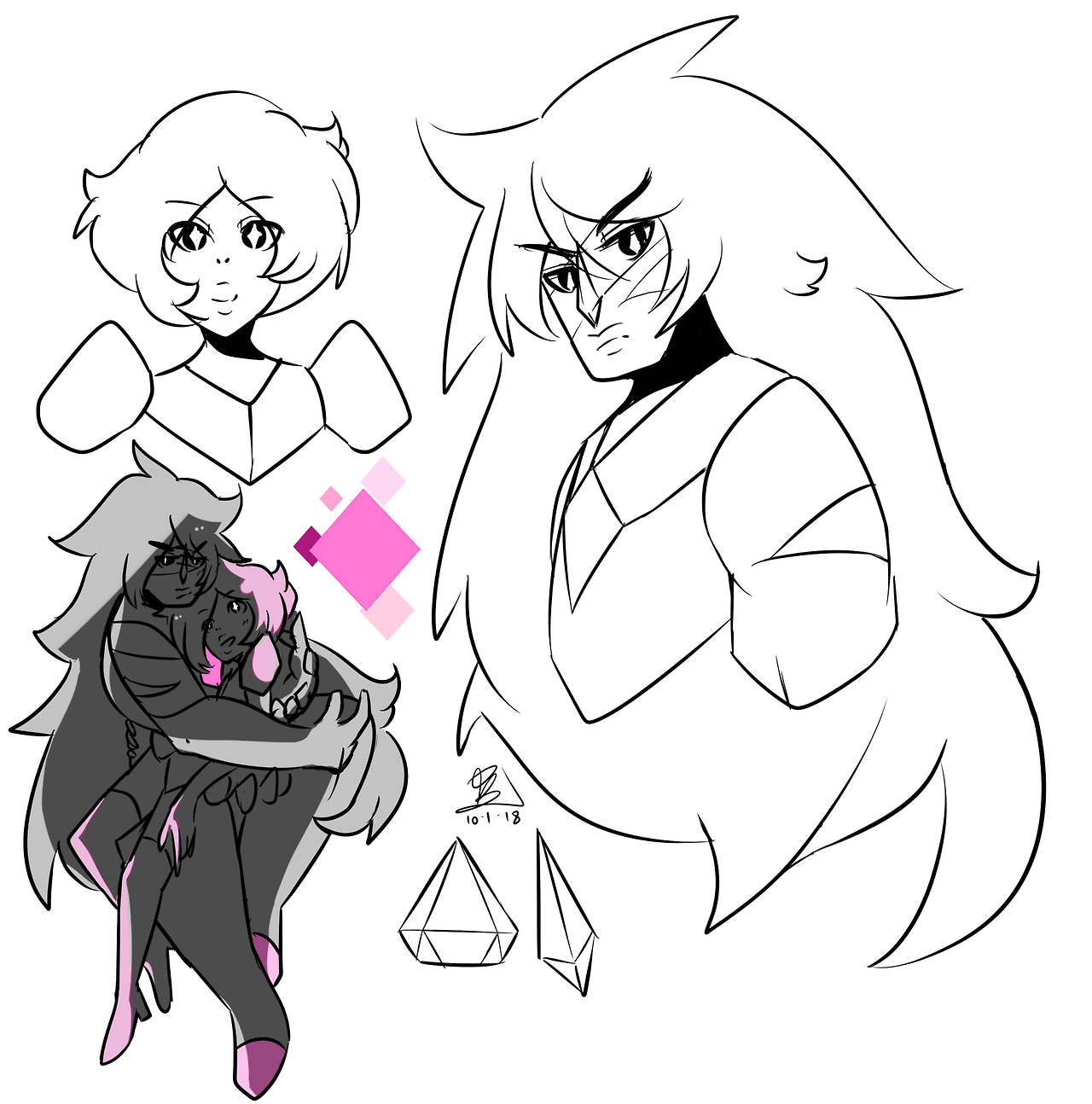 jasper's gem is in a shape similar to a diamond tbh