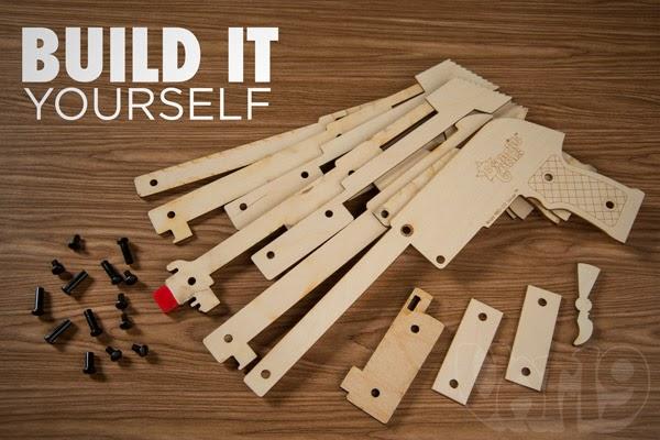 Simple wooden rubber band gun plans | Ch