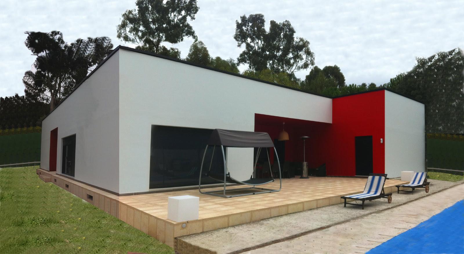 Casas de madera prefabricadas casas de madera y piedra for Casa modelo minimalista