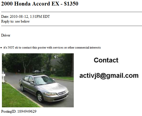 Craigslist Scam Selling Non Existent Cars Computer Tip