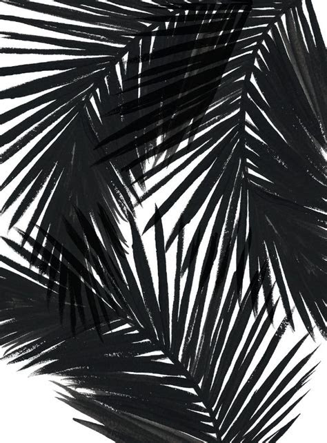 palms black art print  caitlin workman society