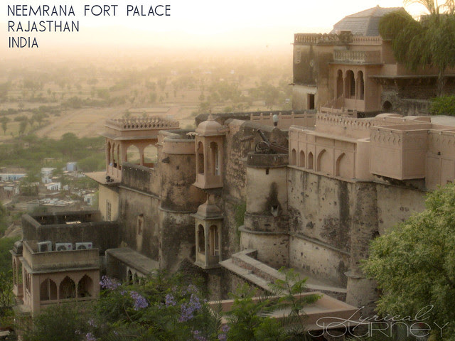 Neemrama Palace at Sunset