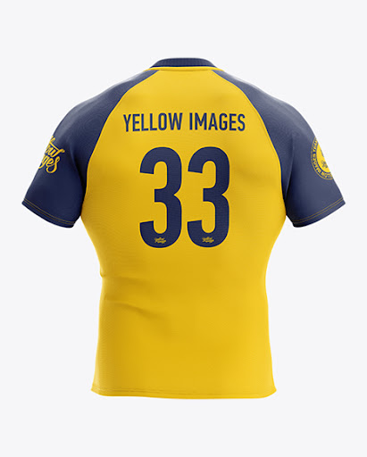 Download Mens Rugby Jersey Back View Jersey Mockup PSD File 124.55 MB