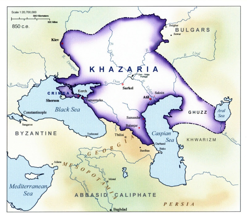 royaume Khazar au 9eme siecle