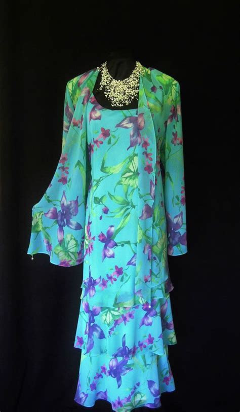 CATTIVA Blue Purple Green Wedding Outfit Size 24 26 Dress