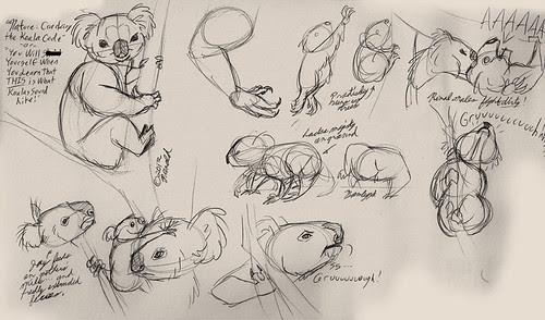 "1.20.13 - ""Nature: Cracking the Koala Code"" sketches"