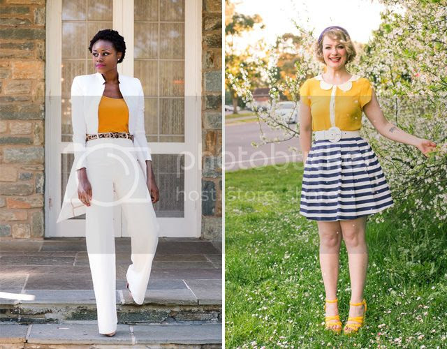 Skinny Hipster and Finding Femme in yellow and white