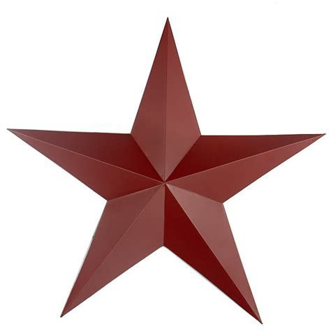"24"" Large Red Tin Barn Star   Barn Stars   Primitive Decor"