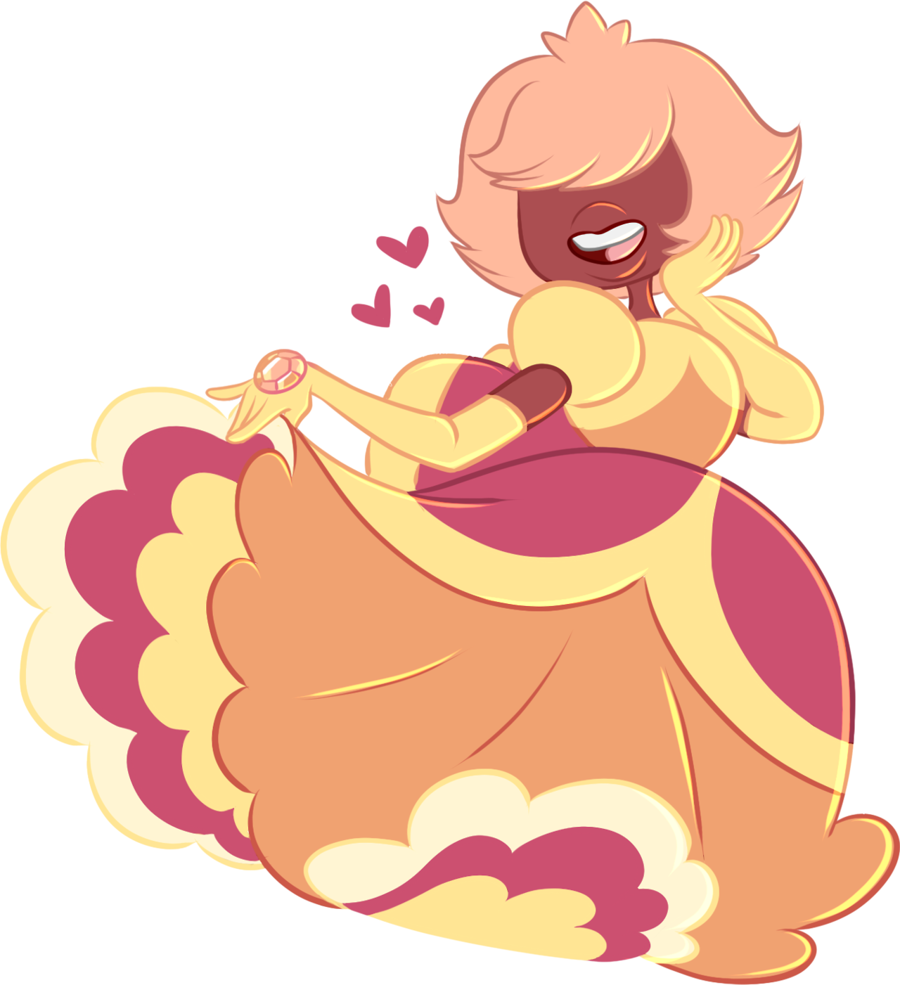 Our beautiful peach princess! Padparadscha is my favourite of the Off Colours!
