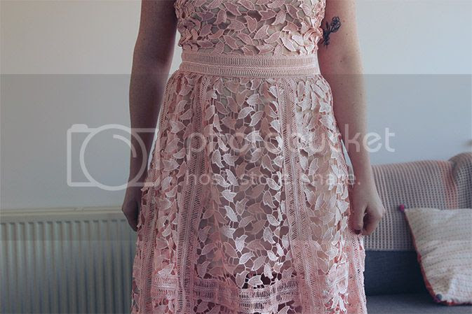 self portrait dupe lace midi
