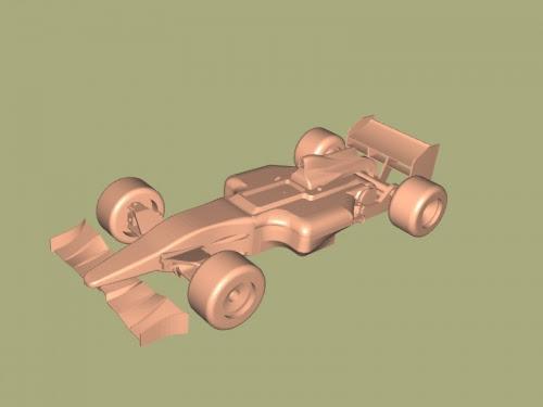Formula 1 Car Free 3d Model Download Stl File - f1 car 3d model free download