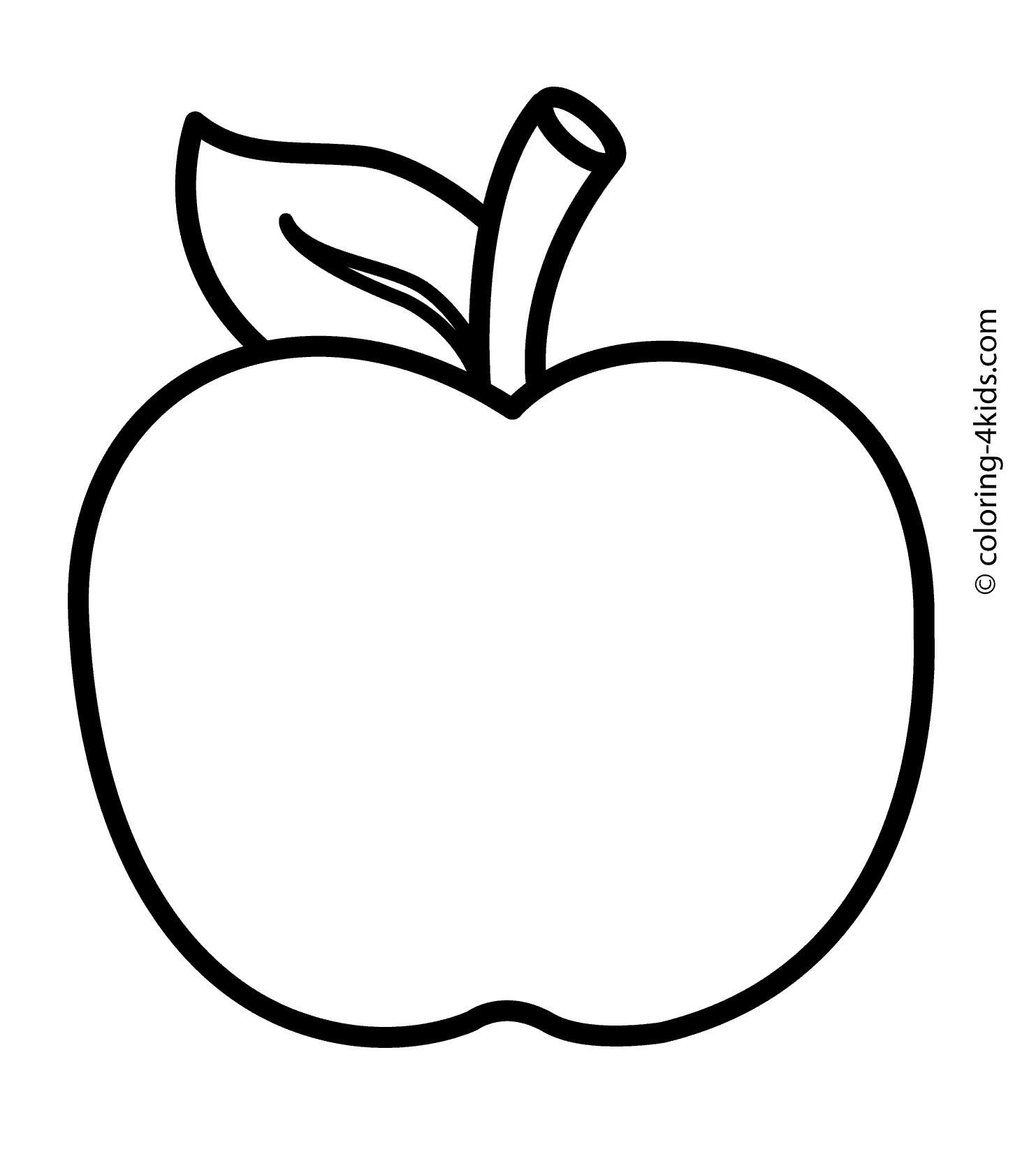 Fotolip Com Rich Image And: Apple Coloring Pages Free Large Images