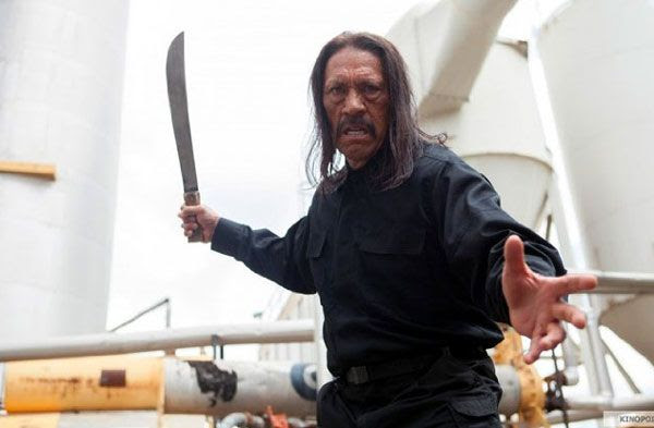 Machete (Danny Trejo) welds a machete in MACHETE KILLS.