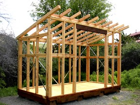 Information timber stud frame shed diy jes for Skillion roof definition