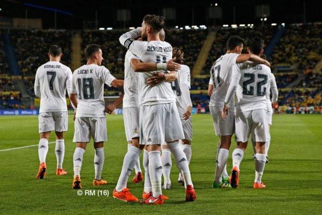 Real Madrid tekuk Las Palmas 1-2. Foto dari Twitter/@RealMadridEn