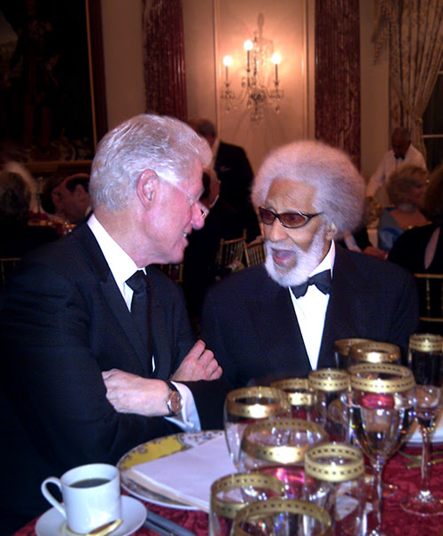 Bill Clinton and Sonny Rollins