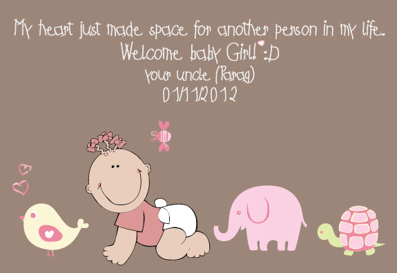 I Am Uncle Again Welcome Baby