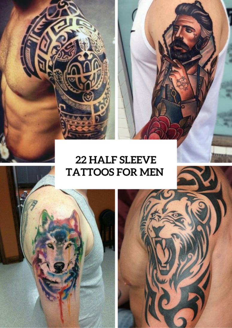 22 Half Sleeve Tattoo Ideas For Men Obsigen