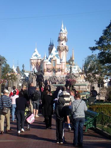 Walt & Mickey in front of Sleeping Beauty Castle