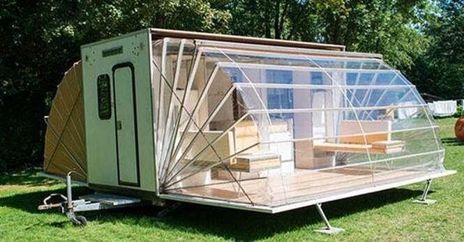 Campista eleva barraca de camping para um outro nível
