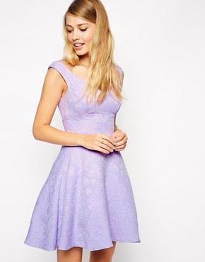 Image 1 ofASOS Textured Skater Dress