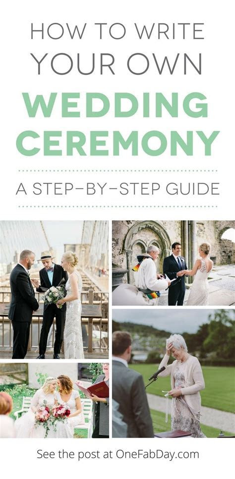Step by Step Guide: How to Write Your Own Wedding Ceremony