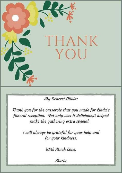 33  Best Funeral Thank You Cards   Of, As and Note