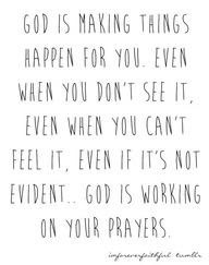 God is making things happen