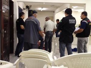 Adolescente é assassinado em igreja evangélica em Mangabeira, na Paraíba (Foto: Walter Paparazzo/G1)