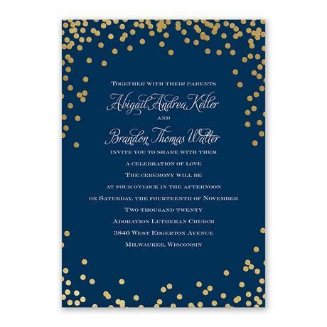 Polka Dot Glow Foil Invitation   Invitations By Dawn