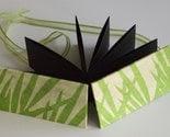 MOO minicard album - green bamboo