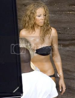 Mariah on the set of her music video 'I'll be lovin' U long time